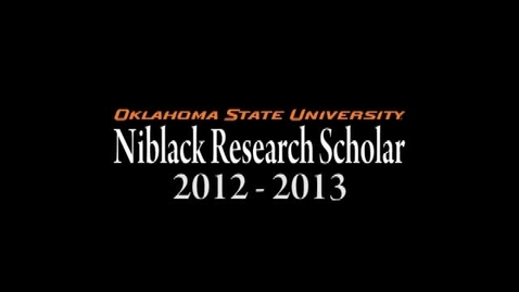 Thumbnail for entry Forrest Rogers, Niblack Research Scholar 2012-13