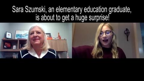 Thumbnail for entry Surprise Scholarship Announcement