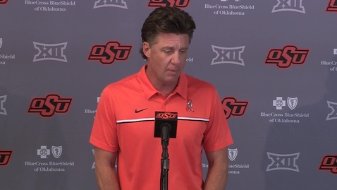 Thumbnail for entry 10/11/21:  Mike Gundy Previews OSU/Texas