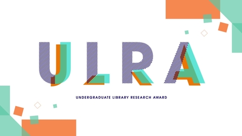 Undergraduate Library Research Award 2020