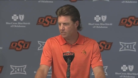 Thumbnail for entry OSU/USA Football Preview:  Mike Gundy Speaks to the Media