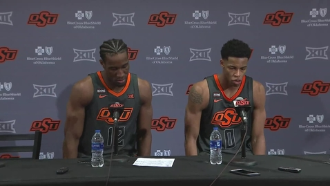 Thumbnail for entry Cowboy Basketball:  OSU/WVU Postgame Press Conference