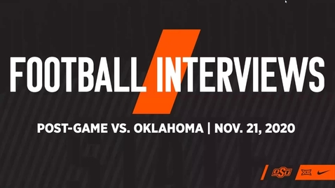 Thumbnail for entry FOOTBALL:  Bedlam Postgame Interviews