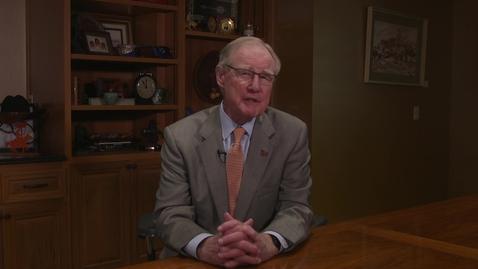 Thumbnail for entry Oklahoma State University President Burns Hargis Message to Campus
