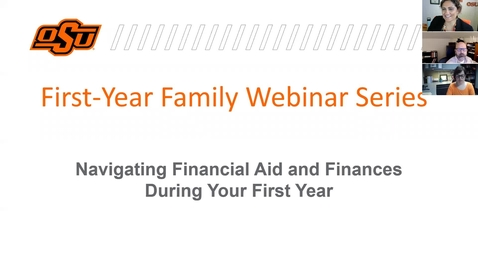 Thumbnail for entry Navigating Financial Aid and Finances during your First Year