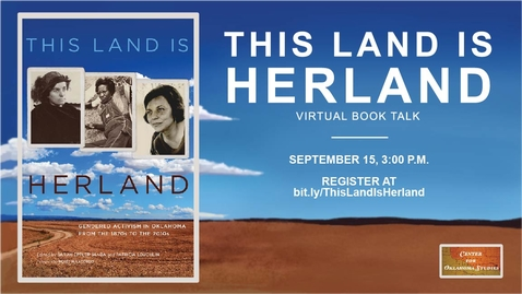 """Thumbnail for entry """"This Land is Herland"""" Virtual Book Talk"""