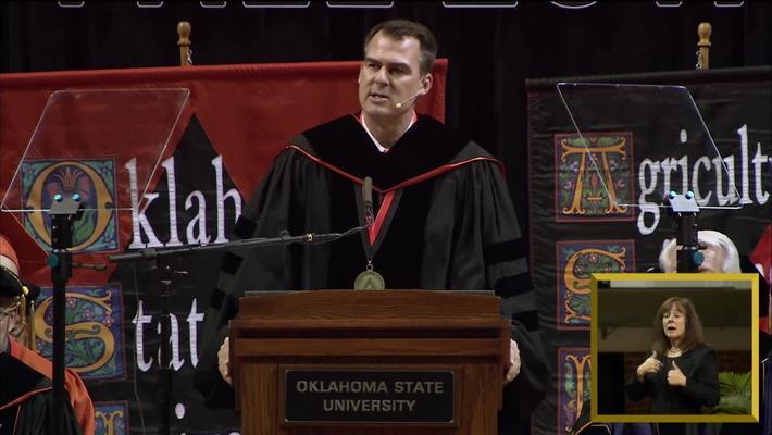 REBROADCAST:  Governor Kevin Stitt Speaks at OSU Undergraduate Commencement Ceremonies