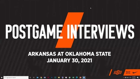 Thumbnail for entry 2/1/21 Cowboy Basketball: Oklahoma State Men's Basketball Head Coach Mike Boynton and players Cade Cunningham and Kalib Boone Address the Media.