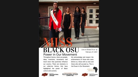 Thumbnail for entry Miss Black OSU Scholarship Pageant 2021