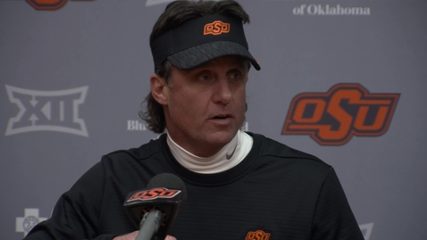 Thumbnail for entry BEDLAM Football Postgame: Mike Gundy Speaks to the Media