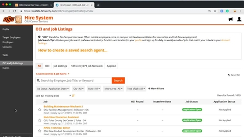 Thumbnail for entry Keyword Search in a Job Search