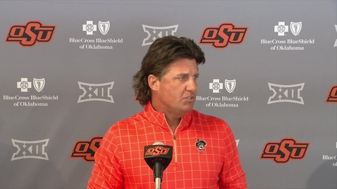 Thumbnail for entry OSU/Kansas State Preview: Mike Gundy Speaks With the Media