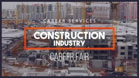 Thumbnail for entry Virtual Construction Industry Career Fair