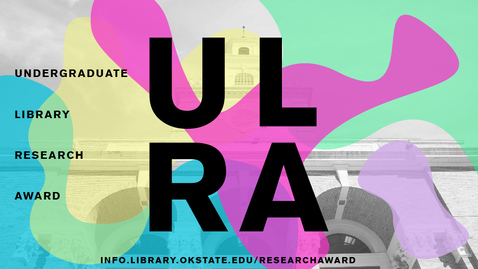 Thumbnail for entry 2018 Undergraduate Library Research Award: Taylor Todd