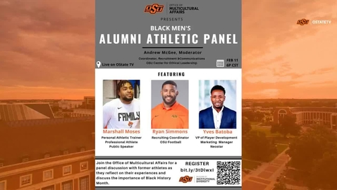 Thumbnail for entry REBROADCAST :   Black History Month Alumni Athletic Panel