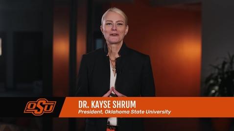 Thumbnail for entry President Kayse Shrum's First Presidential Address