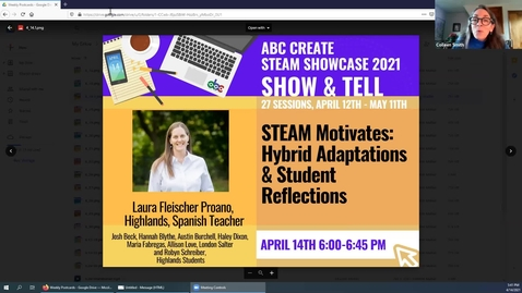 Thumbnail for entry 4-14-2021 Motivate with STEAM: Hybrid Adaptations and Student Reflections