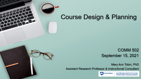 Thumbnail for entry Course Design & Planning - COMM 502