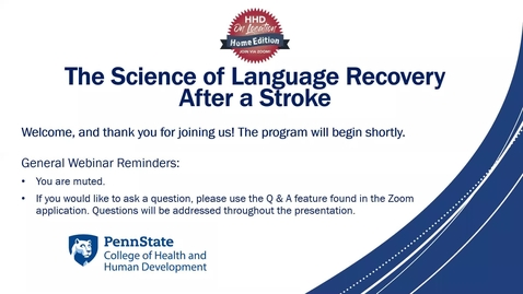 Thumbnail for entry The Science of Language Recovery After a Stroke