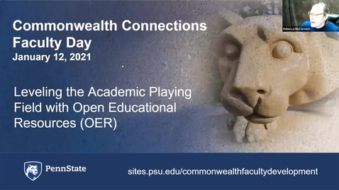 Thumbnail for entry CC: Leveling the Academic Playing Field with Open Educational Resources (OER)