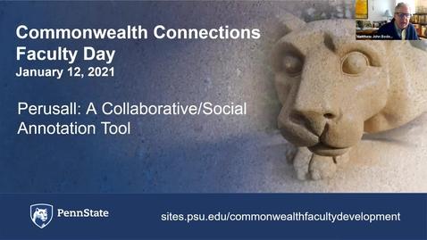 Thumbnail for entry CC: Perusall: A Collaborative/Social Annotation Tool