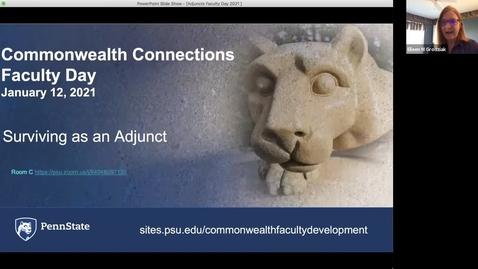 Thumbnail for entry CC: Succeeding as an Adjunct Faculty Member