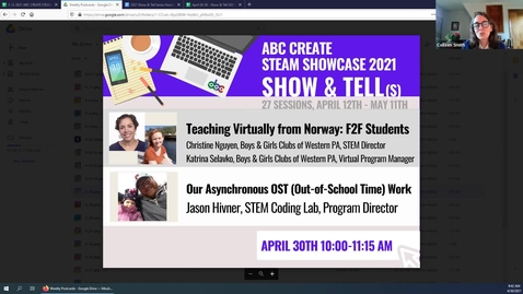 Thumbnail for entry 4-30-21 Teaching Virtually from Norway + Our Asynchronous OST (Out-of-School Time) Work