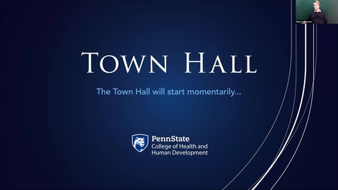 Thumbnail for entry HHD Town Hall - Faculty and Staff - April 13, 2021