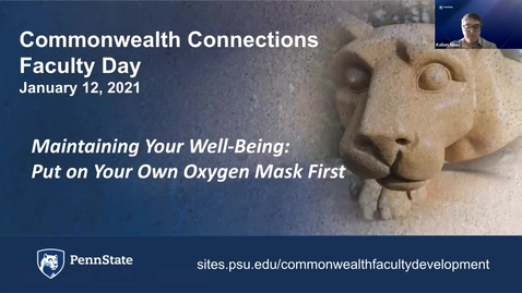 Thumbnail for entry CC: Maintaining Your Well-Being: Put on Your Own Oxygen Mask First, 3:00 pm