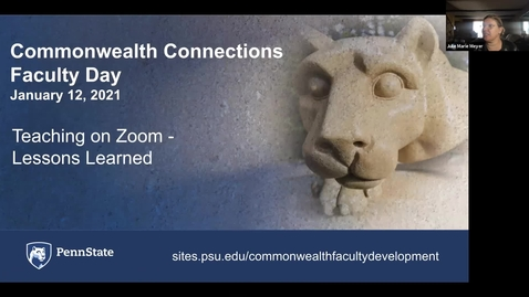 Thumbnail for entry CC: Teaching on Zoom: Lessons Learned, 3:00 pm