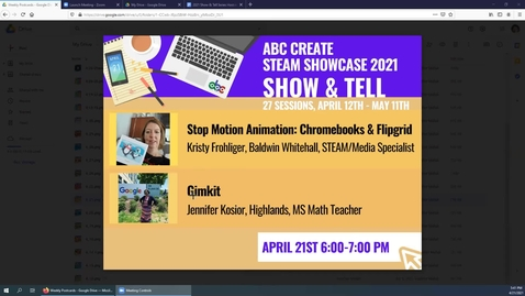 Thumbnail for entry 4-21-2021 Stop Motion Animation on Chromebooks using Flipgrid + Gimkit - ABC CREATE Show & Tell