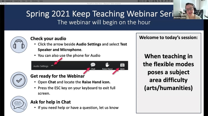 Thumbnail for channel Keep Teaching Webinar Series