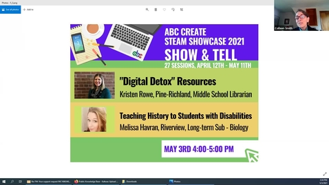 """Thumbnail for entry 5-3-2021 """"Digital Detox"""" Resources + Teaching History to Students with Disabilities"""
