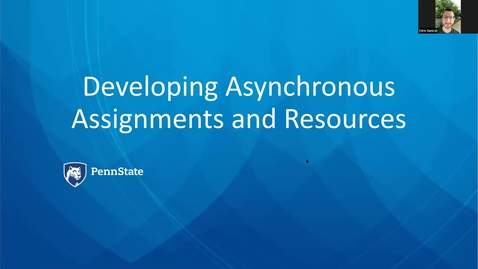 Thumbnail for entry Developing Asynchronous Assignments and Resources
