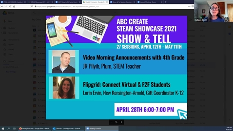 Thumbnail for entry 4-28-2021 Video Morning Announcements with 4th Grade + Flipgrid to Connect Virtual Students with Face-to-Face Students