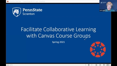 Thumbnail for entry Facilitate Collaborative Learning with Groups - Canvas Badge part 6