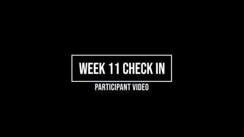 Thumbnail for entry Week 11 Check In
