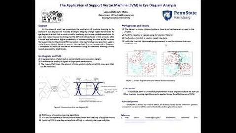 Thumbnail for entry The Application of Support Vector Machine  in  Eye Diagram Analysis