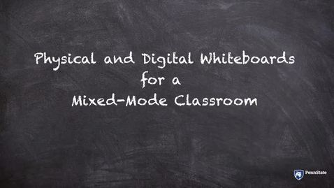 Thumbnail for entry Physical and Digital Whiteboards in a Mixed Mode Classroom