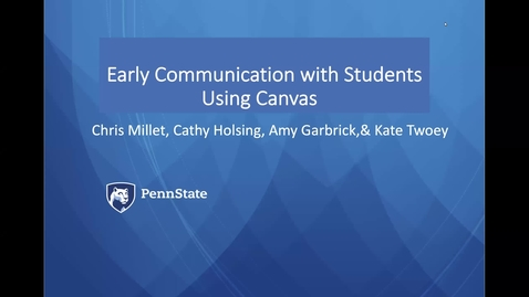 Thumbnail for entry Strategies for Early Communication with Students using Canvas: Keep Teaching Webinar Series