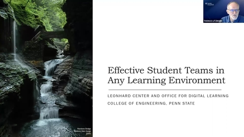 Thumbnail for entry Effective Student Teams in Any Learning Environment