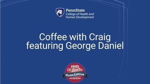 Thumbnail for entry Coffee with Craig featuring George Daniel