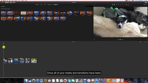Thumbnail for entry Adding Audio and Text to an iMovie Project