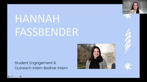 Thumbnail for entry Hannah Fassbender - Student Employee Showcase Presentation