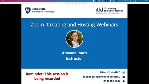 Thumbnail for entry Zoom: Creating and Hosting Webinars