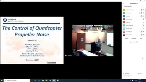 Thumbnail for entry Dr. Tim Brungart -- 12/6/2019 -- Flow Induced Noise