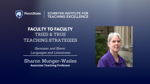 Thumbnail for entry Faculty to Faculty: Tried & True Teaching Strategies [Language and Literature]