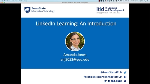 Thumbnail for entry Linkedin Learning- an Introduction