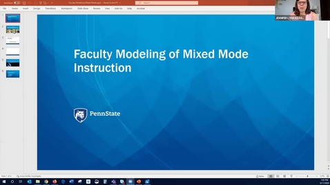 Thumbnail for entry Faculty Modeling of Mixed Mode Instruction: Keep Teaching Webinar Series