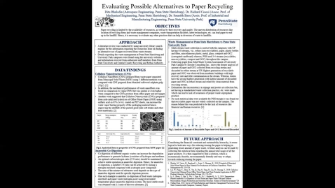 Thumbnail for entry Evaluating Possible Alternatives to Paper Recycling